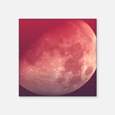 """Setting Moon in a red sky Square Sticker 3"""" x 3"""""""