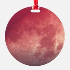 Setting Moon in a red sky Ornament