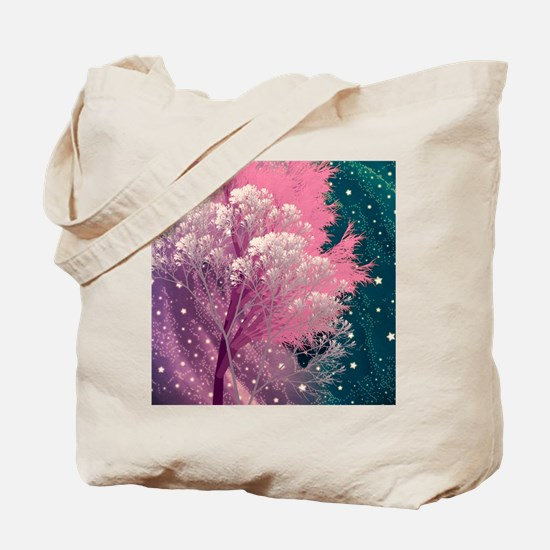 crazy trees pink Tote Bag
