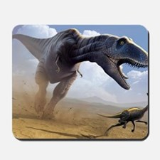 Tyrannosaurus rex hunting Mousepad