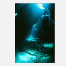 Underwater cave Postcards (Package of 8)
