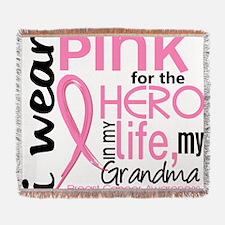 - Hero in My Life 2 Grandma Breast  Woven Blanket