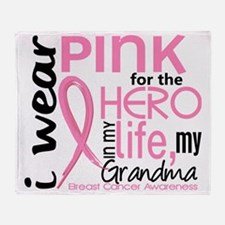 - Hero in My Life 2 Grandma Breast C Throw Blanket
