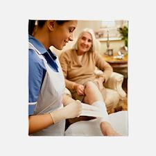 Leg ulcer treatment Throw Blanket