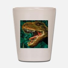 Tyrannosaurus rex dinosaur head Shot Glass