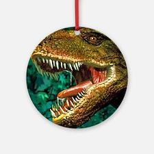 Tyrannosaurus rex dinosaur head Round Ornament