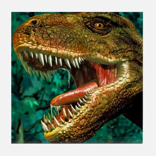 Tyrannosaurus rex dinosaur head Tile Coaster
