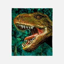 Tyrannosaurus rex dinosaur head Throw Blanket