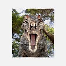Tyrannosaurus rex dinosaur Throw Blanket