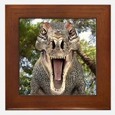 Tyrannosaurus rex dinosaur Framed Tile