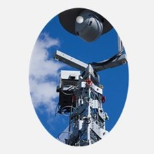 Security camera on tower Oval Ornament