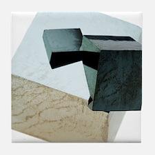 Iron pyrite crystals Tile Coaster