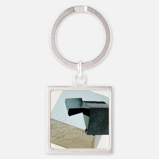 Iron pyrite crystals Square Keychain