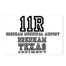 TEXAS AIRFIELDS - 11R - B Postcards (Package of 8)