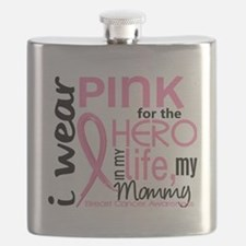 - Hero in My Life 2 Mommy Breast Cancer Flask