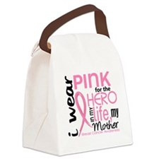 - Hero in My LIfe 2 Mother Breast Canvas Lunch Bag