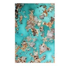 Turquoise mineral Postcards (Package of 8)