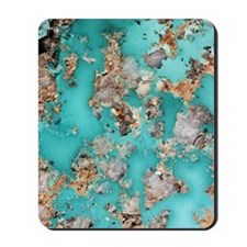 Turquoise mineral Mousepad