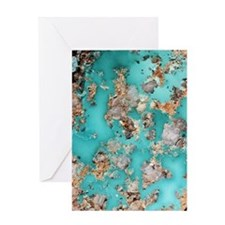Turquoise mineral Greeting Card