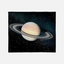 Saturn, artwork Throw Blanket
