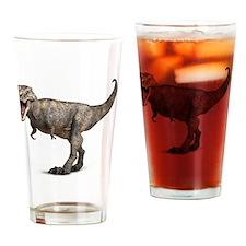 Tyrannosaurus rex dinosaur Drinking Glass