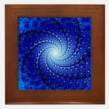 Julia fractal Framed Tile