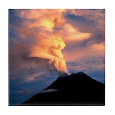 Tunguragua volcano Tile Coaster