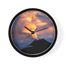 Tunguragua volcano Wall Clock