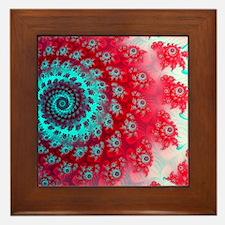 Ju lia fractal Framed Tile
