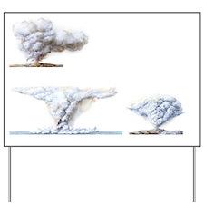 Types of volcanic eruption Yard Sign
