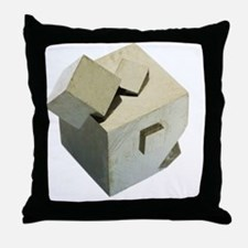 Iron pyrite crystals Throw Pillow