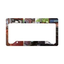 Rusty gas pumps and car License Plate Holder