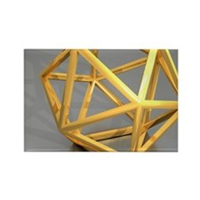 Icosahedral structure, artwork Rectangle Magnet