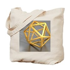 Icosahedral structure, artwork Tote Bag