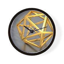 Icosahedral structure, artwork Wall Clock
