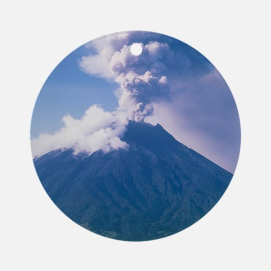 Tunguragua volcano Round Ornament