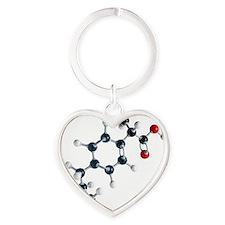 Ibuprofen molecule Heart Keychain