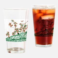 Influenza viruses, TEM Drinking Glass