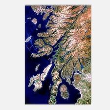 True-colour satellite ima Postcards (Package of 8)
