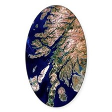 True-colour satellite image of west Decal