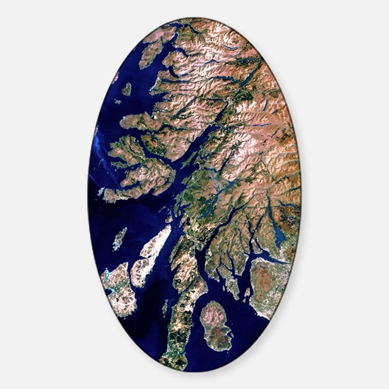 True-colour satellite image of west Sticker (Oval)