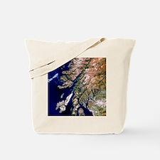 True-colour satellite image of western Sc Tote Bag