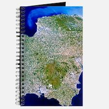 True-colour satellite image of southwest E Journal
