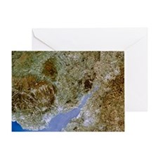 True-colour satellite image of Sever Greeting Card