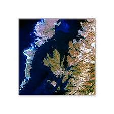 """True-colour satellite image Square Sticker 3"""" x 3"""""""