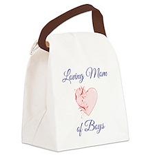 Loving Mom of Boys Canvas Lunch Bag