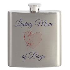 Loving Mom of Boys Flask