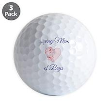 Loving Mom of Boys Golf Ball