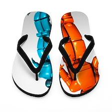 Humanoid robots, artwork Flip Flops