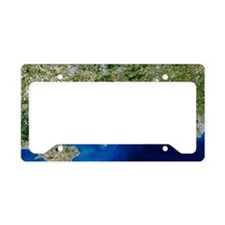 True-colour satellite image o License Plate Holder